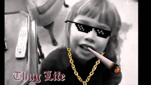 kid-loves-lasagna-thug-life