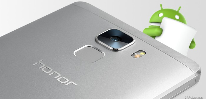 Huawei Honor 7 se actualiza a Android 6.0 Marshmallow