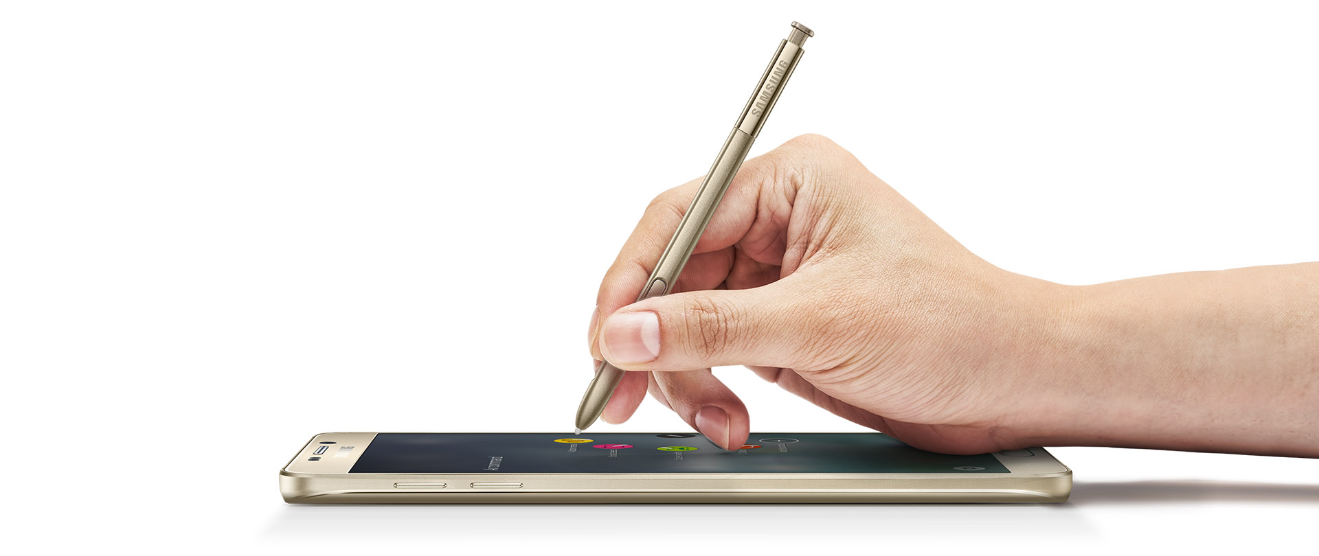 El Galaxy Note 5 con su inseparable S-Pen.