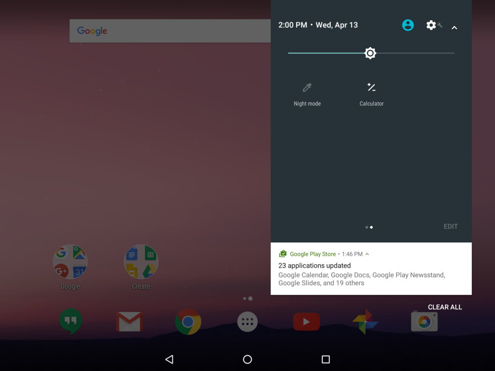Android N Developer Preview 2 calculadora