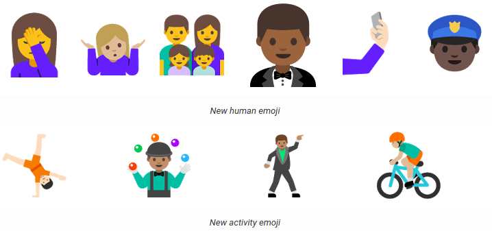 Android N Developer Preview 2 emojis