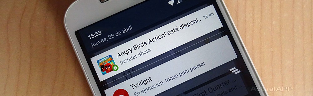 actualapp angry birds action está disponible