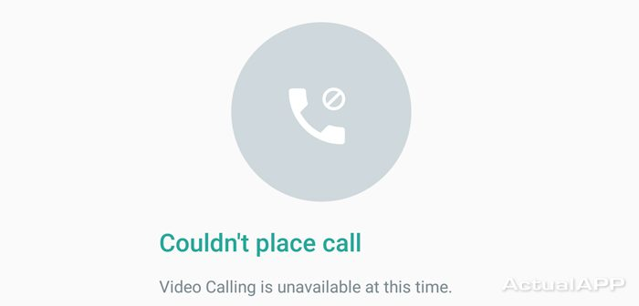 videollamada whatsapp couldn't place a call actualapp