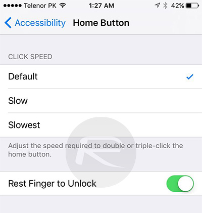 ios 10 beta 2 Rest-Finger-to-Unlock