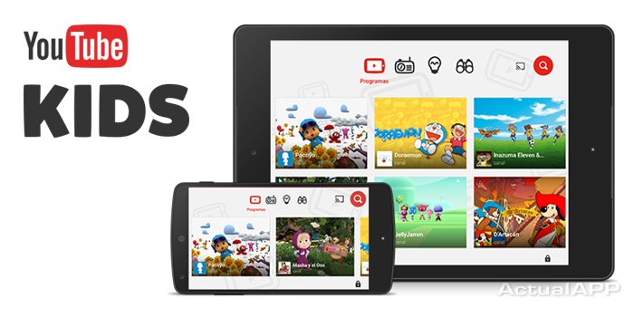 youtube kids portada actualapp