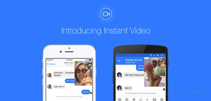 instant video facebook messenger actualapp portada