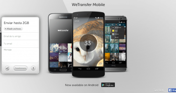 wetransfer smartphones android iOS