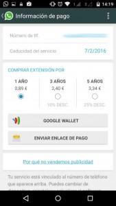 Información de pago