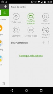 Opciones Dolphin Browser