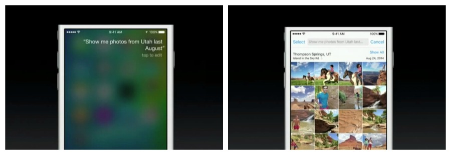 Siri, fotos