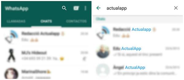 WhatsApp busqueda