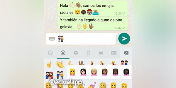 WhatsApp emojis multiculturales