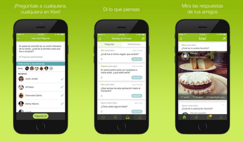 Kiwi app capturas