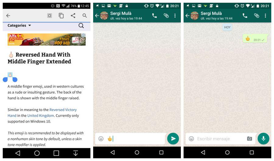 Copia el icono de la página web y pegalo en tu chat de WhastApp | Primera captura vía Android Police