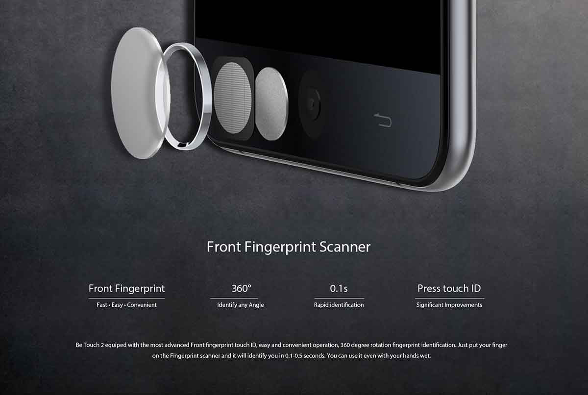 Ulefone Be Touch 2 fingerprint