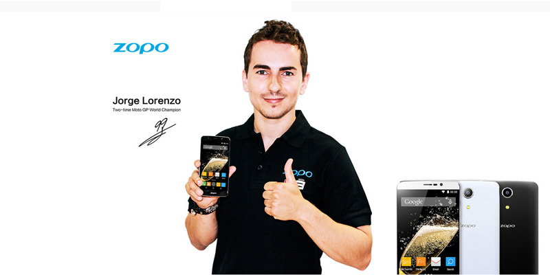 Jorge Lorenzo con un Zopo Speed 7 Plus.