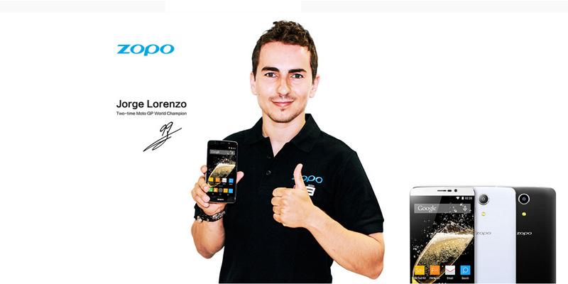 Jorge Lorenzo con un Zopo Speed 7 Plus.