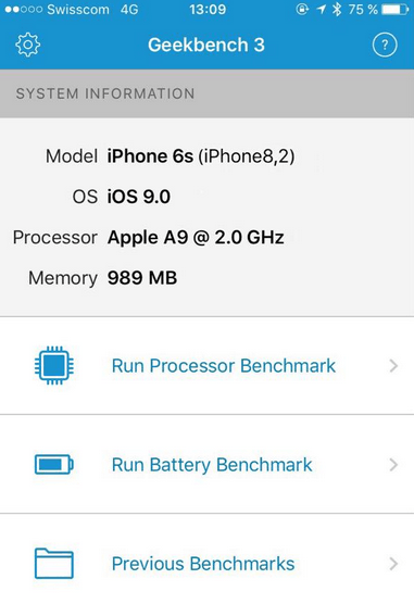 iphone 6s con 1gb de RAM