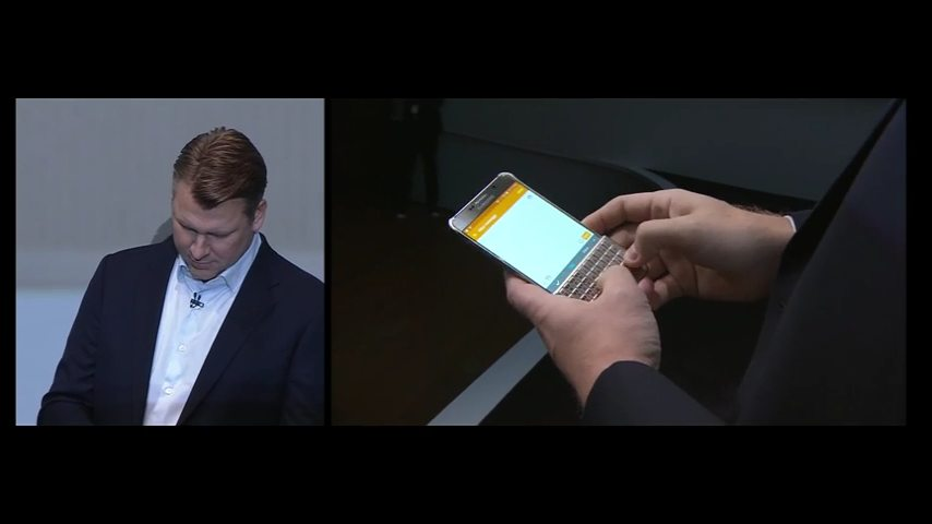 El Samsung Galaxy S6 edge+ con la funda y teclado físico