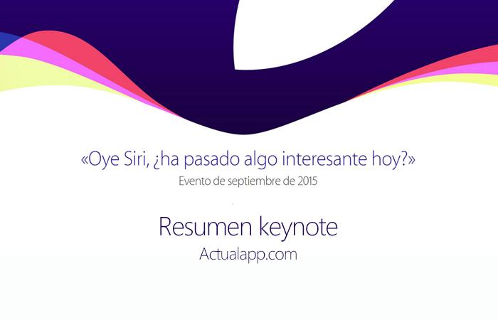 keynote Apple septiembre