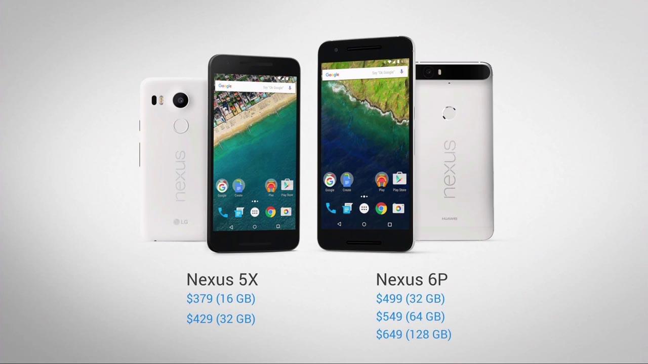 Nexus 5X y 6P precios