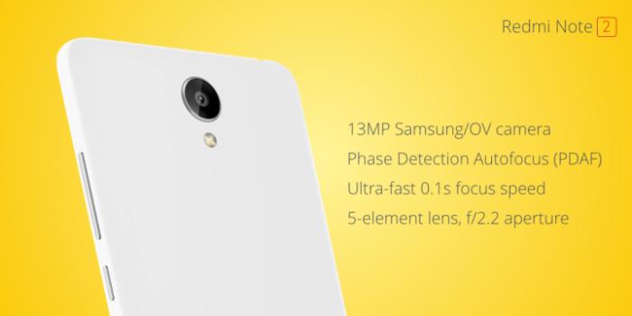 Xiaomi Redmi Note 2 Prime camara