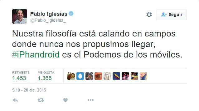 Pablo Iglesias iphandroid inocentes 2015 actualapp