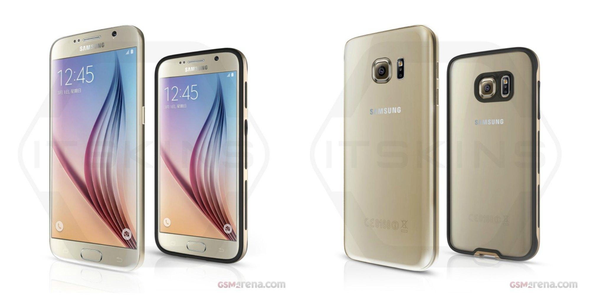 Samsung Galaxy S7 y S7+ renders funda