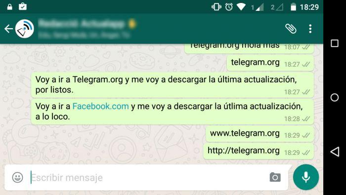 WhatsApp bloquea url Telegram (1)