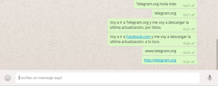 WhatsApp bloquea url Telegram (3)