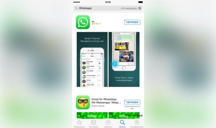 descargar whatsapp ios