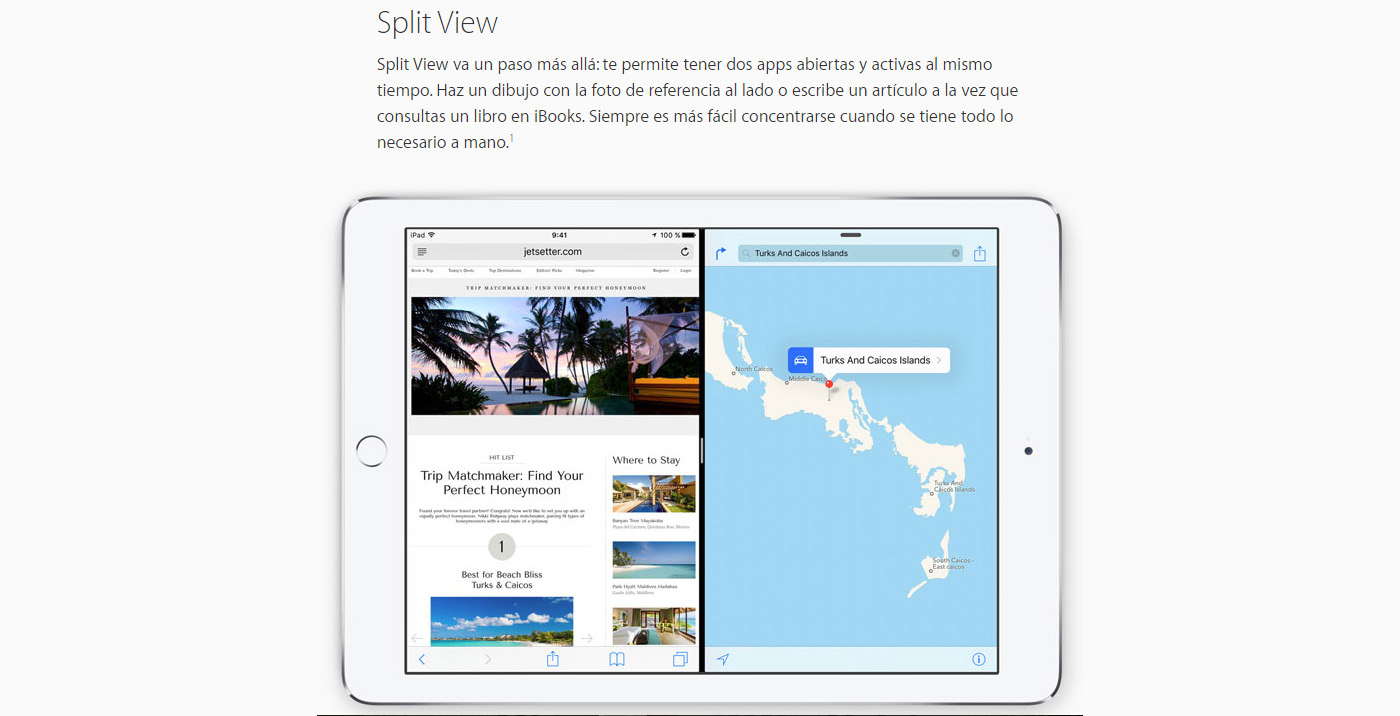 """Split View"" llegó a iPad con iOS 9."
