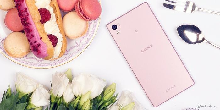 Sony hace oficial el Xperia Z5 rosa; lanzamiento en febrero