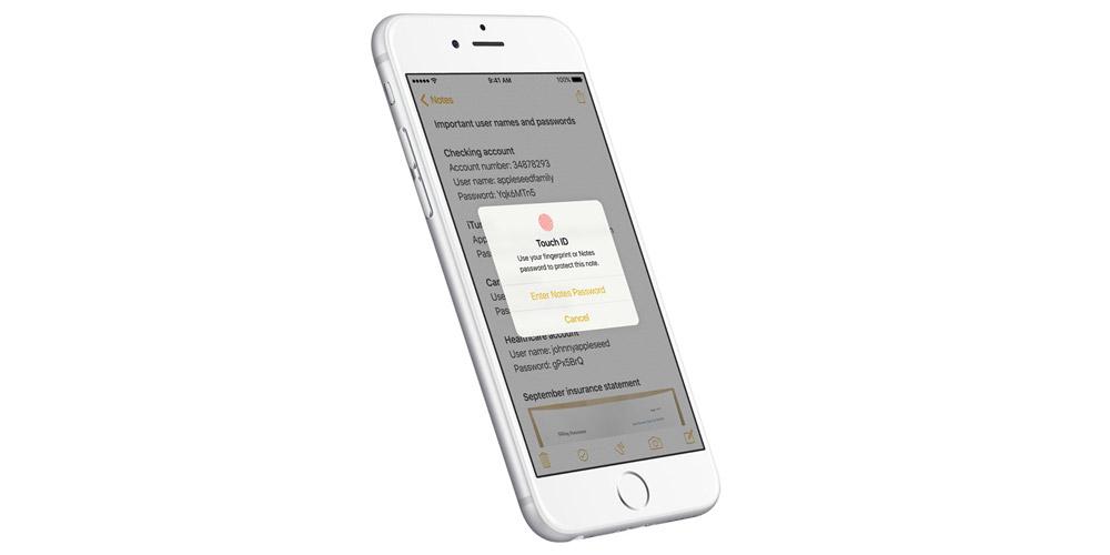 Touch ID para notas ios 9,3 - copia