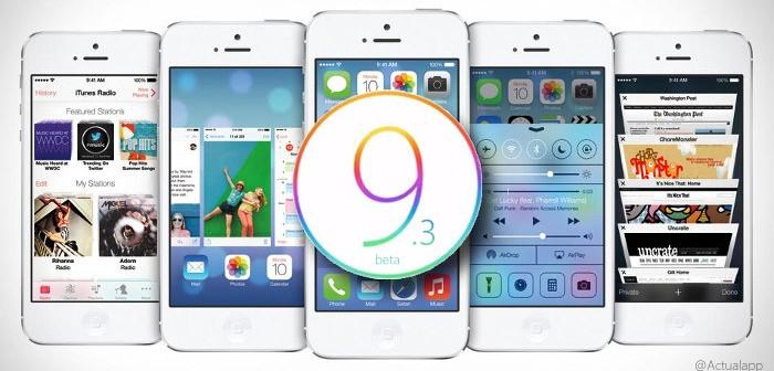 Estas son las novedades de iOS 9.3 beta