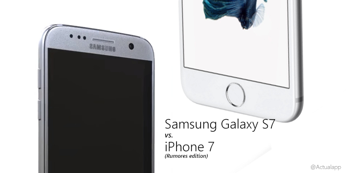 Galaxy S7 vs iPhone 7, duelo en base a filtraciones