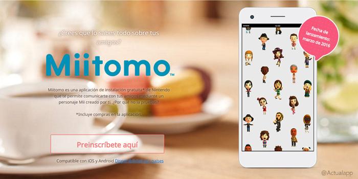 Ya te puedes preinscribir en Miitomo, el primer juego de Nintendo para móviles