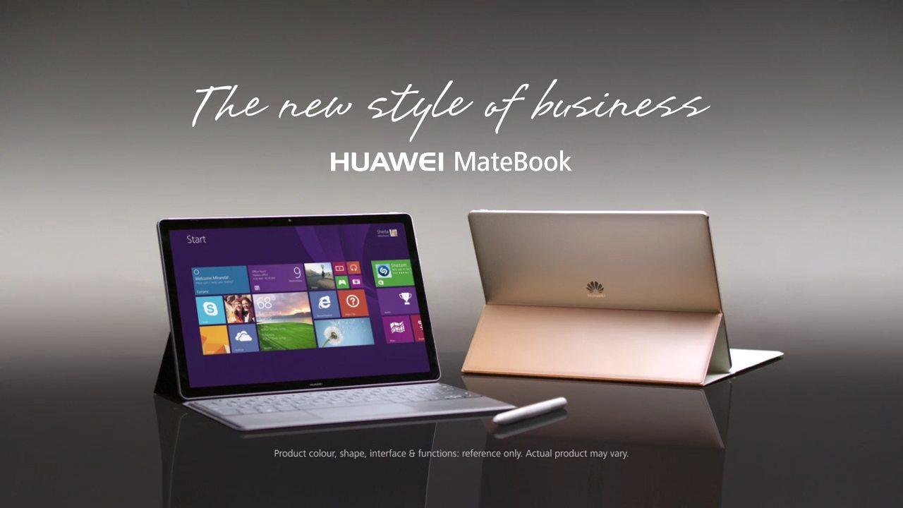 huawei matebook viddeo promocional