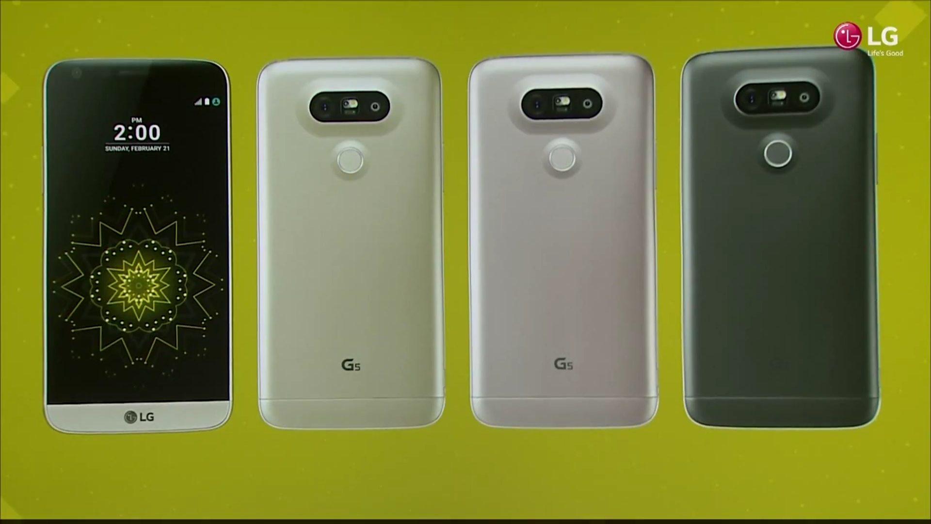 lg g5 colores presentacion
