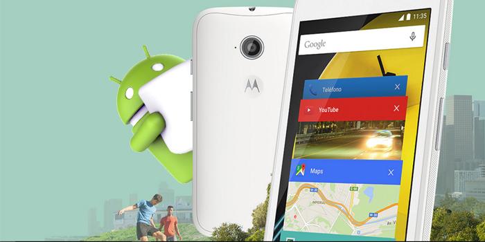 Motorola Moto E 2015 se actualiza a Android 6.0 Marshmallow