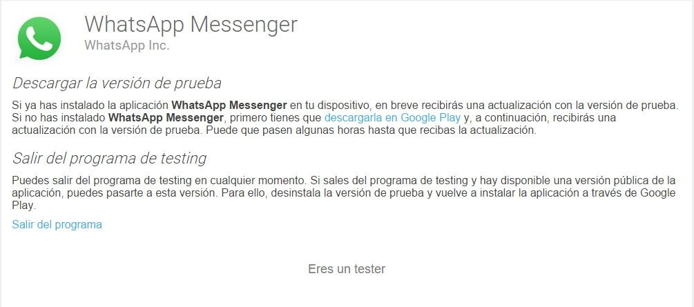 whatsapp android beta tester
