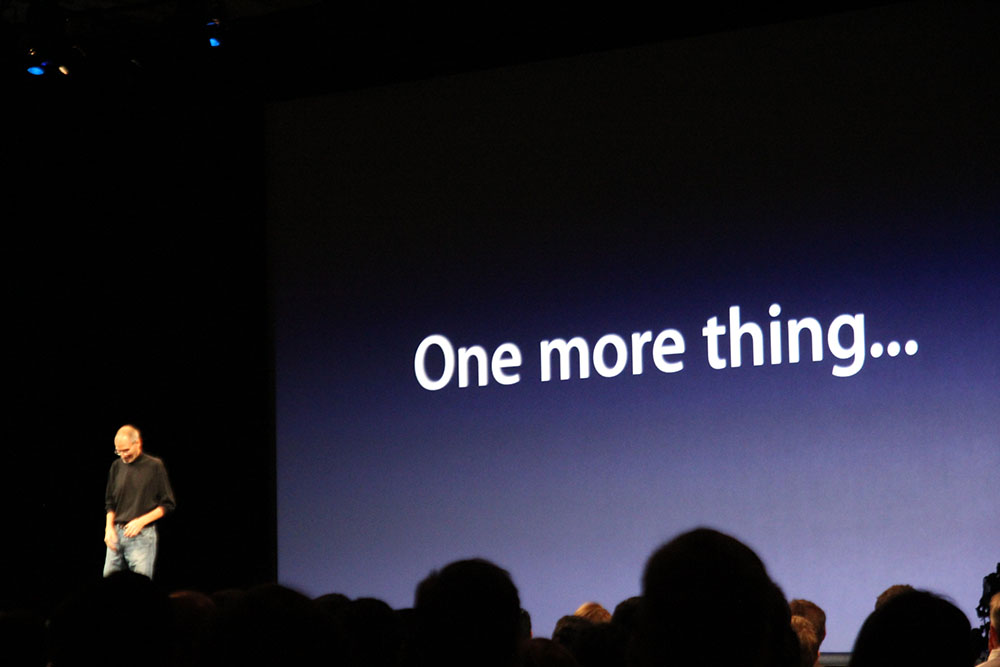 Apple keynote generico one more thing