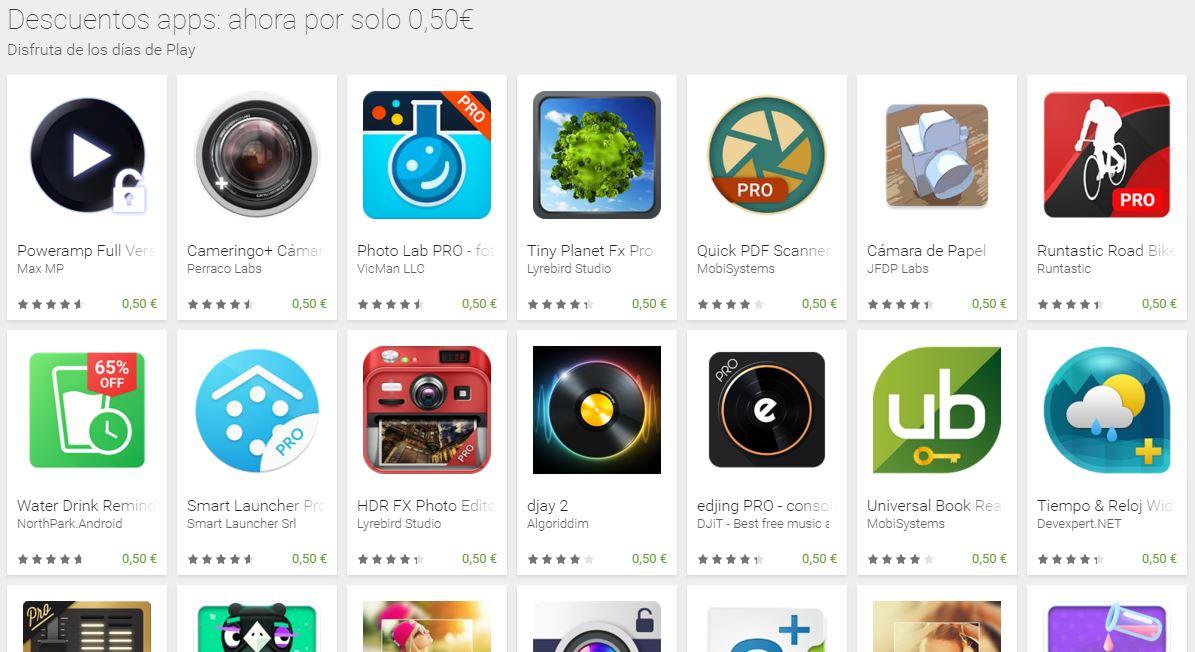 google play dias de play oferta