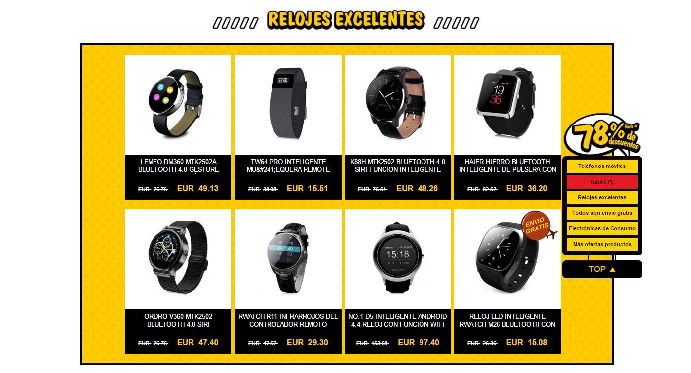 smartwatch igogo 78 por ciento promocion