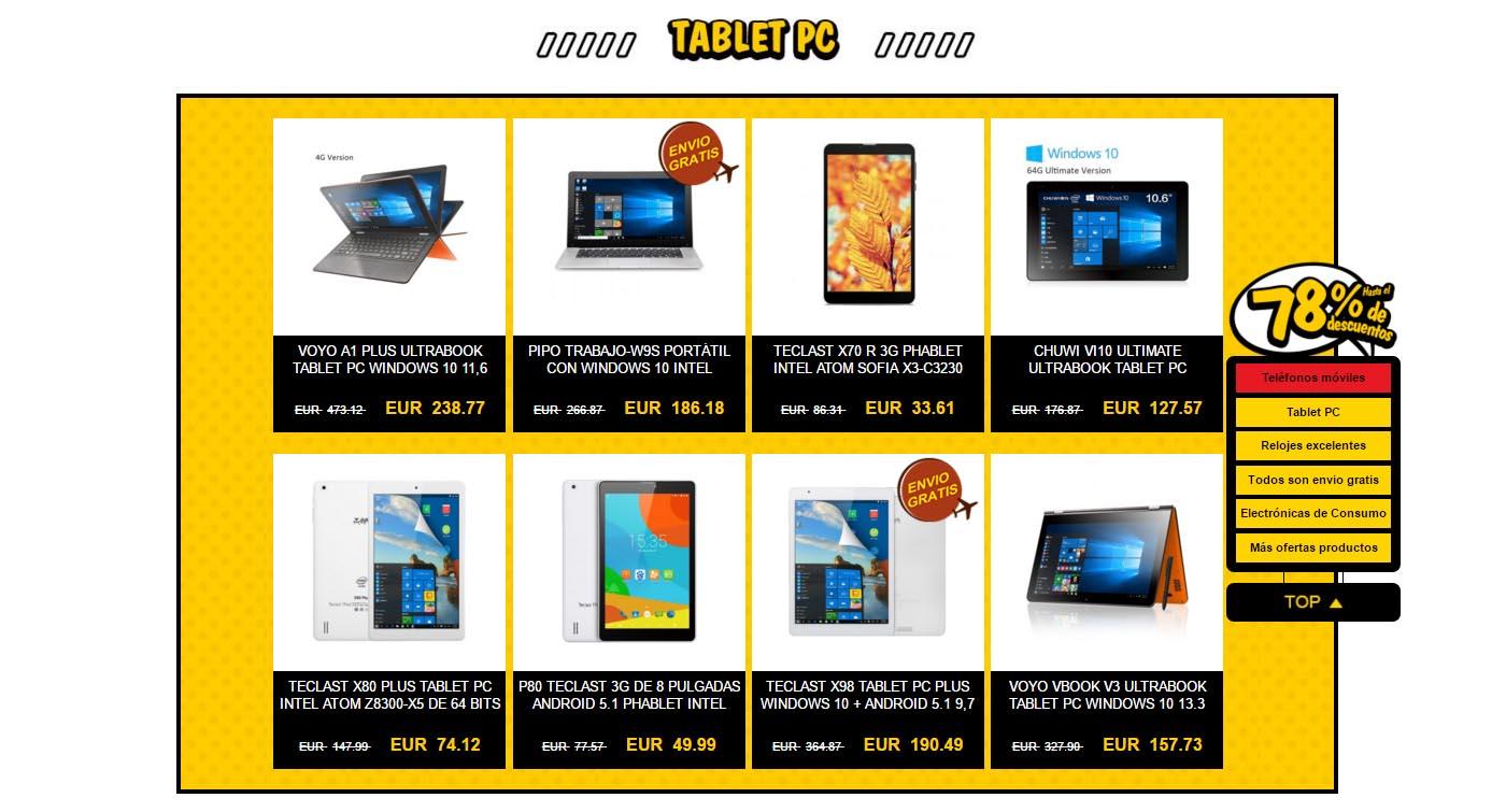 tablets igogo 78 por ciento promocion