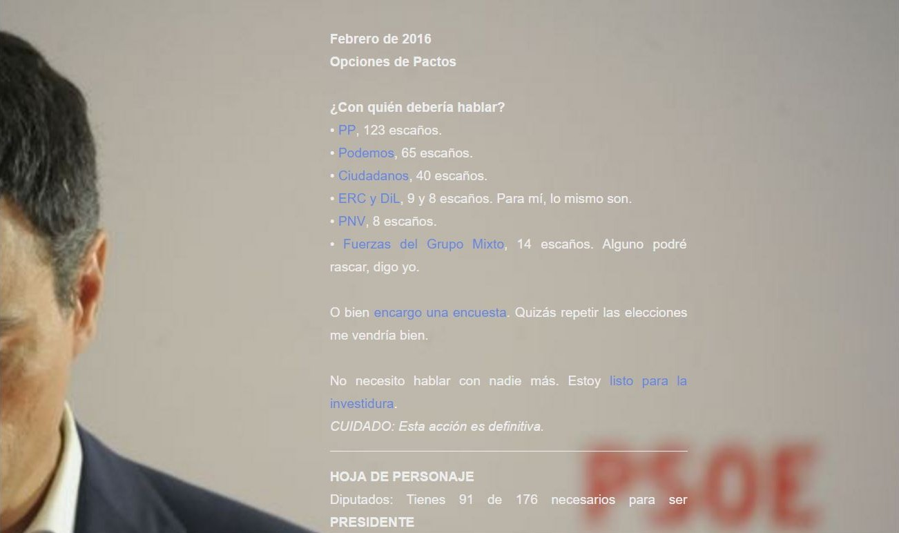 Pedro Sánchez Simulator 2016 captura pc1