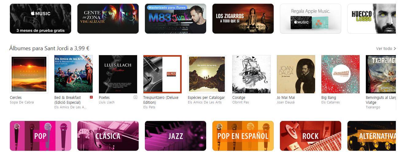 albumes para sant jordi 2016 itunes