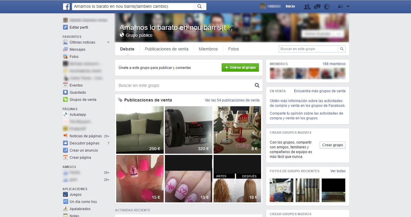grupos de venta facebook pc