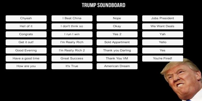 apps de Donald Trump