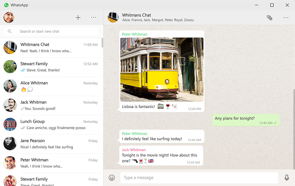 whatsapp pc windows mac conversacion oficial